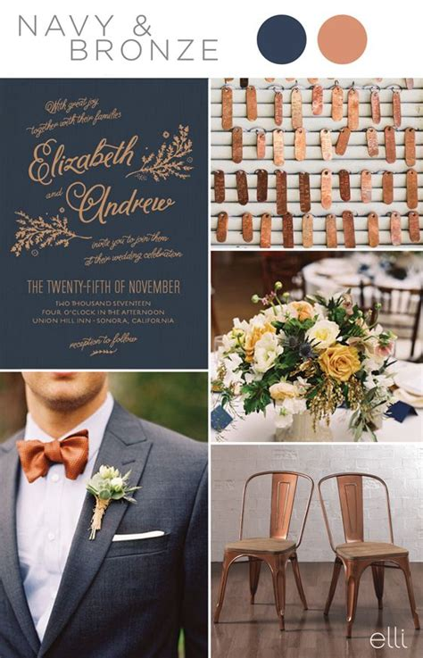 navy blue wedding color schemes wedding colors november navy blue wedding color schemes
