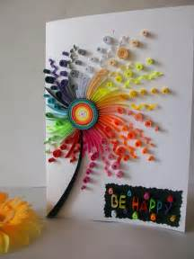 Paper Used For Greeting Cards - best 25 quilling birthday cards ideas on