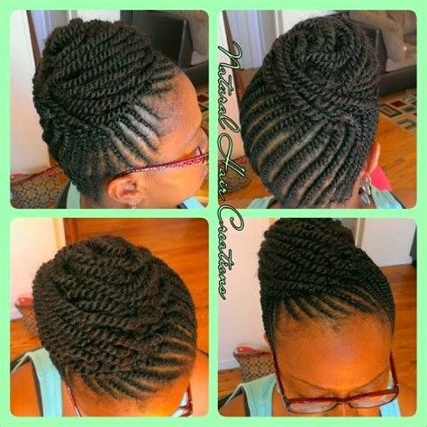scalp twist eith bun 17 best images about kinky twist on pinterest protective