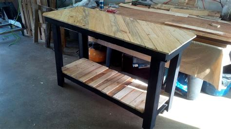 pallet kitchen island pallet kitchen island with pattern top