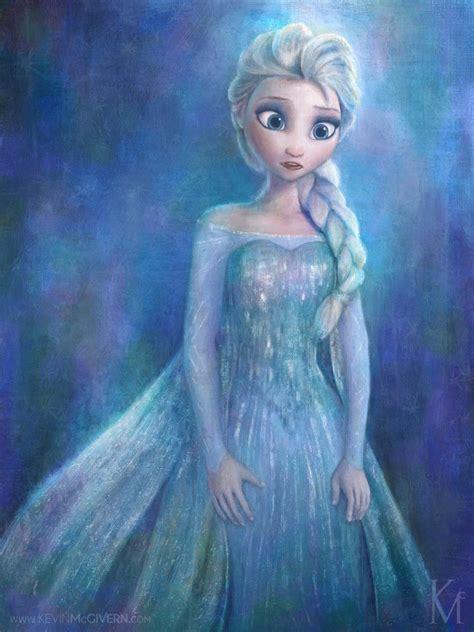 elsa painting elsa disney s frozen by kevmcgivernart on deviantart