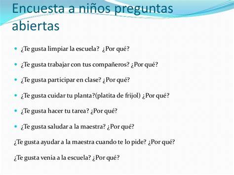 preguntas de investigacion educativa ejemplos ejemplos de preguntas abiertas para ninos planteamiento