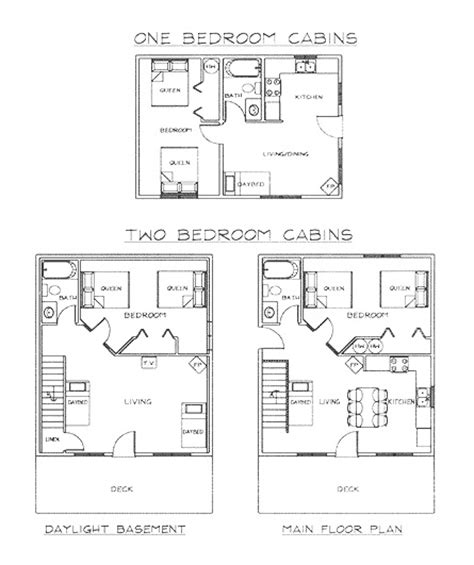 two bedroom cabin floor plans lodging near glacier national park standard cabins