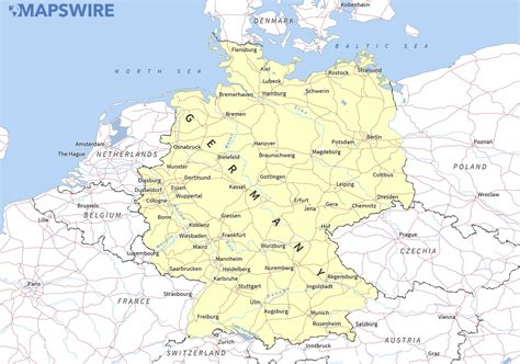map of germany and free maps of germany mapswire