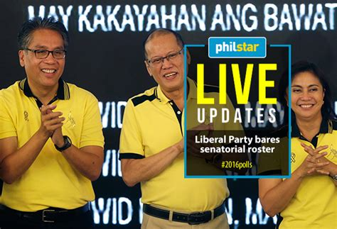 philippines senatorial candidates live updates liberal party s 2016 senatorial slate