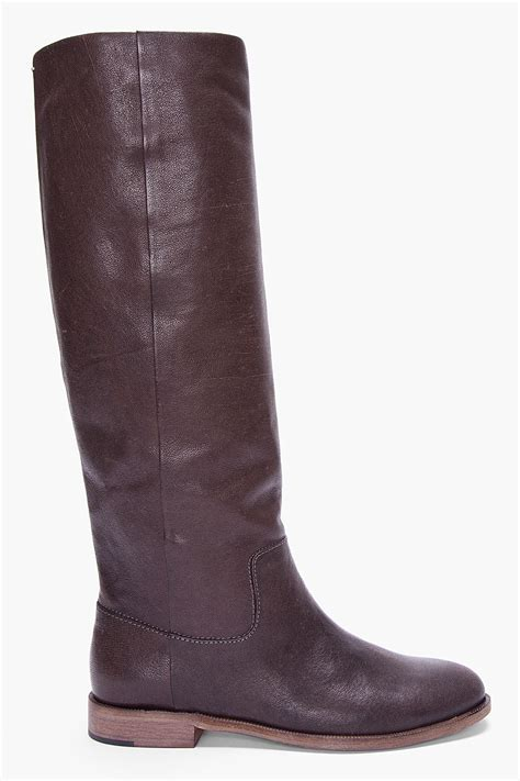 brown leather boots maison martin margiela brown leather boots for womenshoes