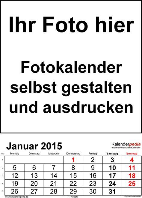 Word Vorlage Jahreskalender 2015 fotokalender 2015 als word vorlagen zum ausdrucken kostenlos