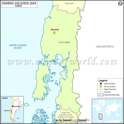 chile location on world map where is osorno location of osorno in chile map
