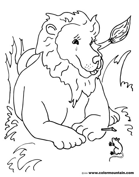 lion and mouse coloring page coloring page kids