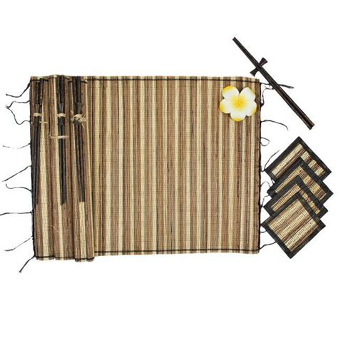 Table Mats And Coaster Sets by Bamboo Table Mats Coasters And Chopsticks Set Indonesia Free Shipping On Orders 45