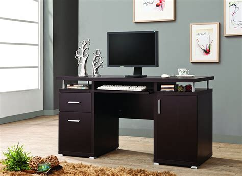 coaster home furnishings 800107 contemporary computer desk cappuccino contemporary home office furniture getting the