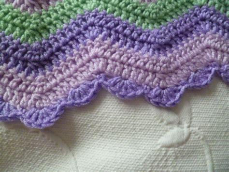 zig zag crochet border pattern lovely crochet edging patterns ideas hative