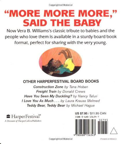 more more more said 0688156347 quot more more more quot said the baby board book caldecott collection toolfanatic com
