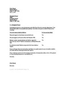 Covering Letter Exles For Administrator by Network Administrator Cover Letter Cover Letters Templates