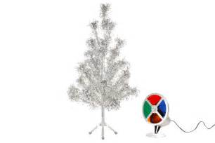 silver tree with color wheel 4 ft aluminum tree with color wheel vintage