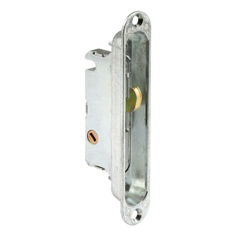 Sliding Glass Door Mortise Latch Prime Line 3 3 4 In Satin Nickel Pocket Door Privacy Latch N 7367 The Home Depot