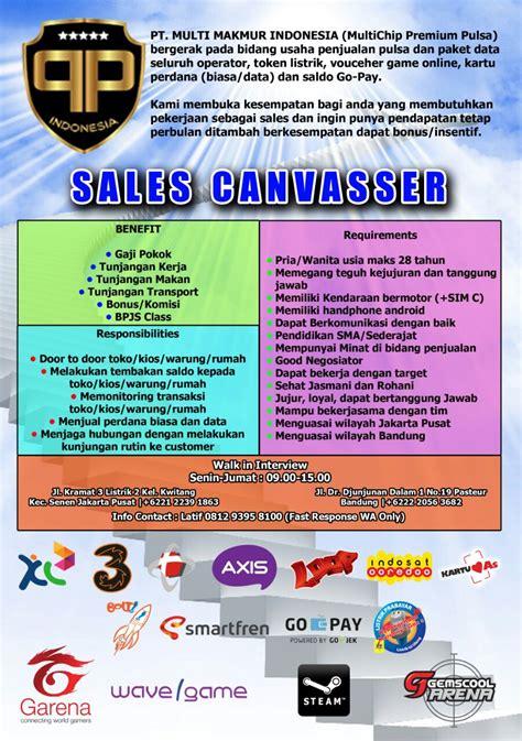 amazon indonesia career loker jakarta barat jakarta pusat posisi sales canvasser