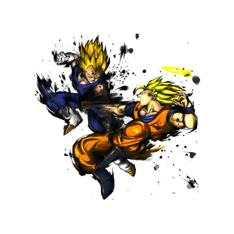 Goku Tees shirt goku and vegeta white