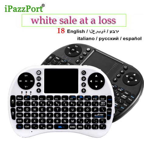 Keyboard Wireless Untuk Android ipazzport 2 4g wireless mini wifi keyboard air mouse touchpad gaming keyboards for android