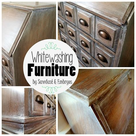 Whitewash Furniture by Whitewashing Glazing Tutorial Sawdust And Embryos