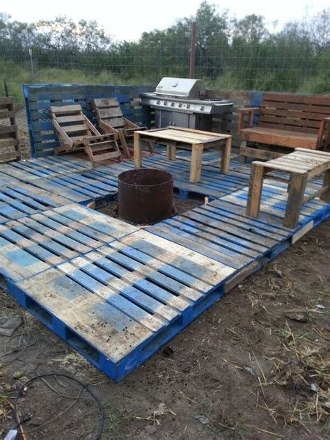 diy pit for balcony pallet deck diy stains middle and trees