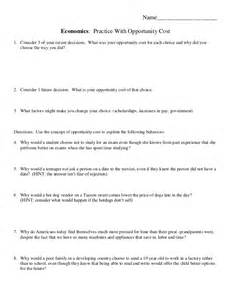 opportunity cost worksheet 2013