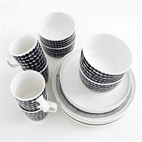 marimekko dinnerware set black white marimekko kitchen