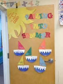 my summer classroom door preschool ideas