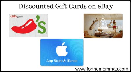 Apple Gift Card Ebay - discounted gift cards on ebay chili s lowe s bp gas airbnb apple itunes and more
