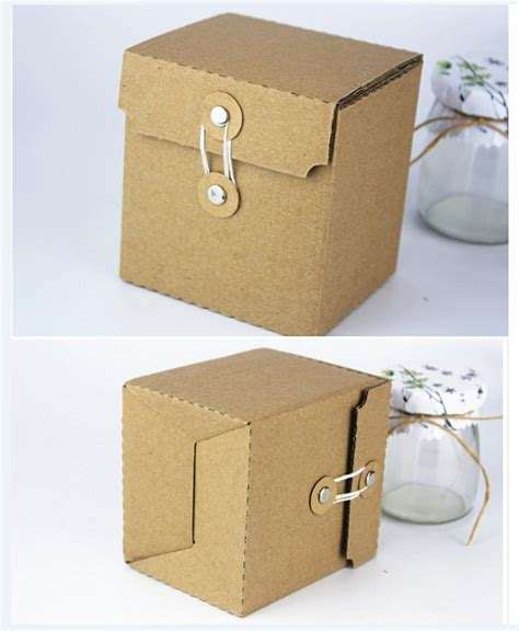 Cardboard Paper Craft - 9x8x10cm small kraft paper vintage boutique custom