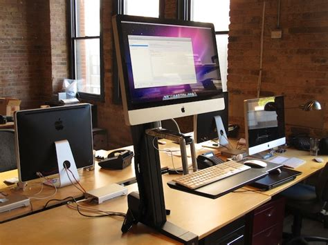 imac standing desk convert a 27 quot imac into a standing desk neoteric design