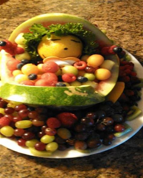 watermelon crib for baby shower king creations baby shower center pieces