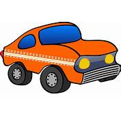 Clipart  Orange Funny Car