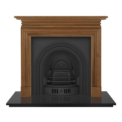 carron wessex 54 quot wooden fireplace with collingham cast