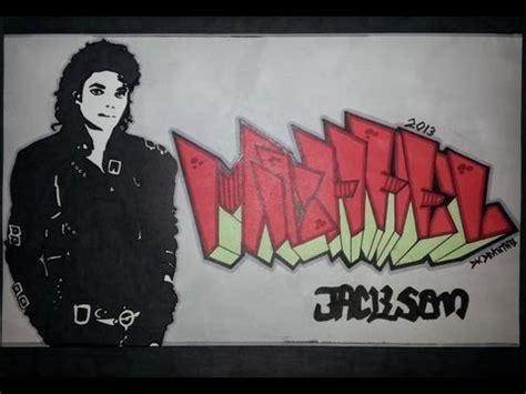 michael jackson graffiti letters stencil michael mj