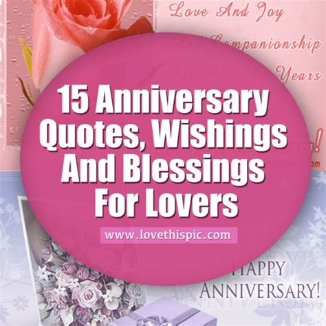 Wedding Anniversary Blessing Quotes by 15 Anniversary Quotes Wishings And Blessings For