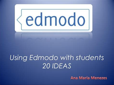 edmodo hack 20 ways to use edmodo slideshare using edmodo with
