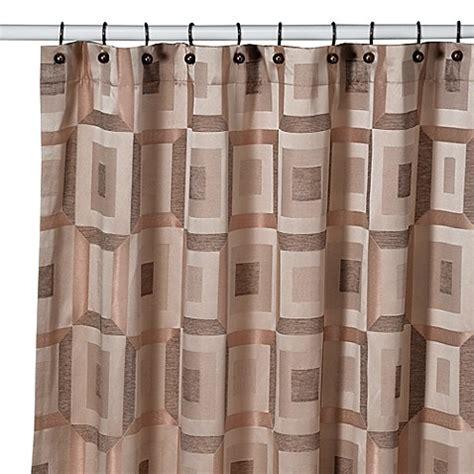 bronze shower curtains croscill 174 metro shower curtain in bronze bed bath beyond