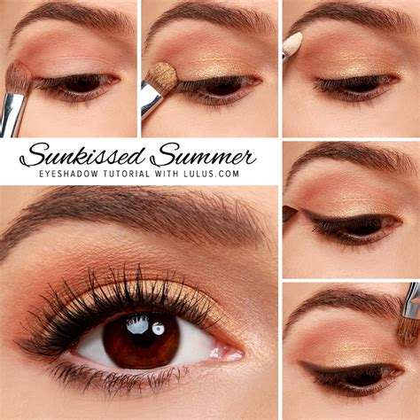 natural gold makeup tutorial eye makeup tutorial archives lulus com fashion blog