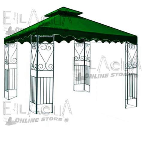 teli per gazebo 3x3 top telo copertura di ricambio per gazebo mt 3x3 verde con