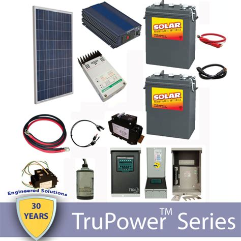 Small Solar Kits For Cabin by Trupower Ac Grid Cabin Kit 120w Shop Solar