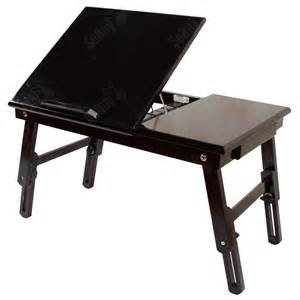 Solid Wood Folding Table Adjustable Folding Solid Wood Bed Desk Table For Laptop Notebook Fbt02 Uk Ebay