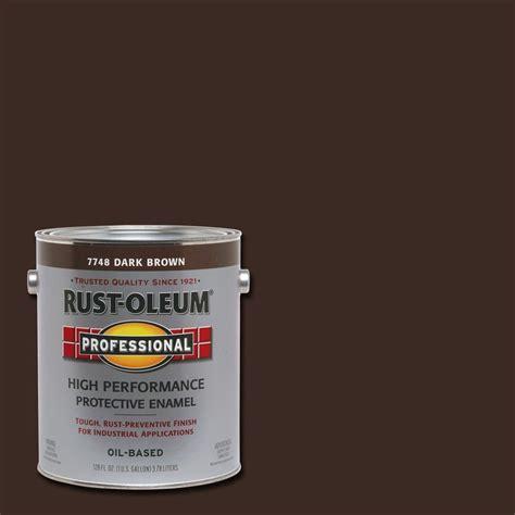 dark brown paint rust oleum professional 1 gal dark brown gloss protective