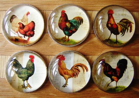 country kitchen knobs chicken cockerel hen bird drawer knobs pulls handles