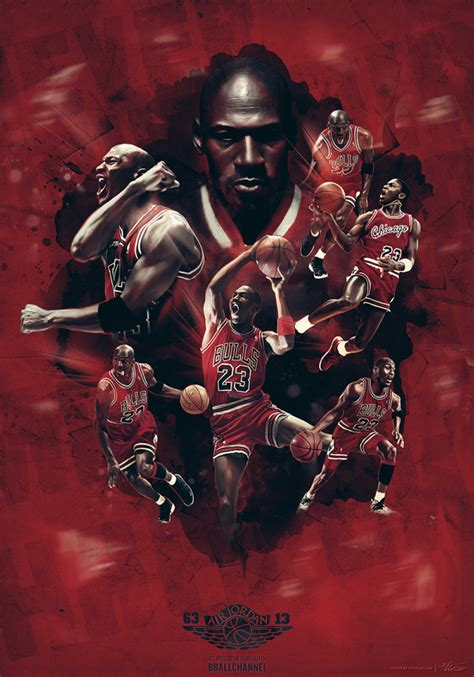 michael jordan 50th birthday art hooped up