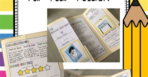 flip book report book report interactive flip flap folder fiction or and