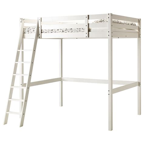 Ikea White Bunk Bed Stor 197 Loft Bed Frame White Stain 140x200 Cm Ikea