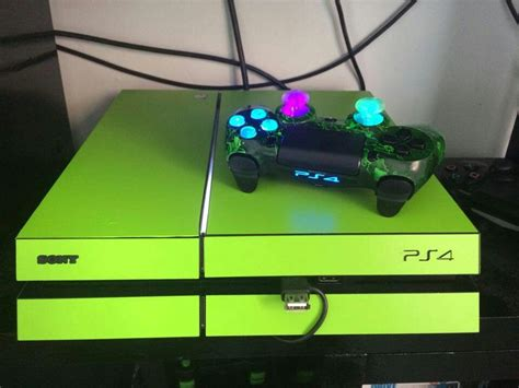 Coole Ps4 Aufkleber by Custom Neon Green Ps4 Ps4 Pinterest Neon Green