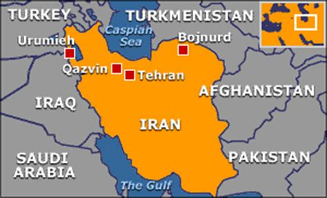 thran map news middle east disperse tehran demo