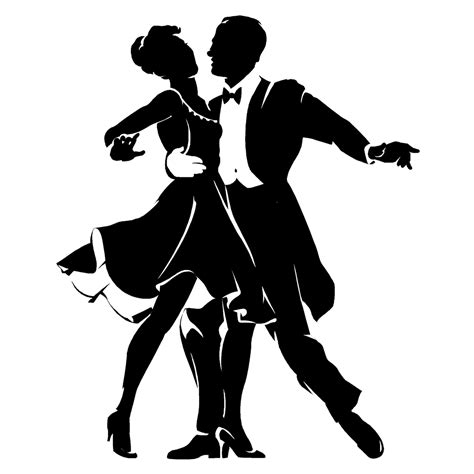 swing danc cartoon couple dancing cliparts co